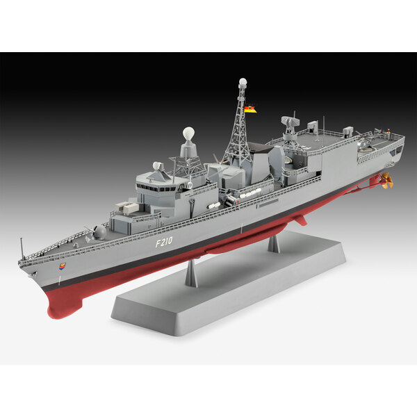 German Frigate Class F122 A model construction kit of a German Navy multi role combat ship whose main role is anti submarine war