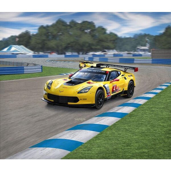 Corvette C7.R An easy to build model construction kit of this successful GT racing car that amongst others won the 2015 Le Mans