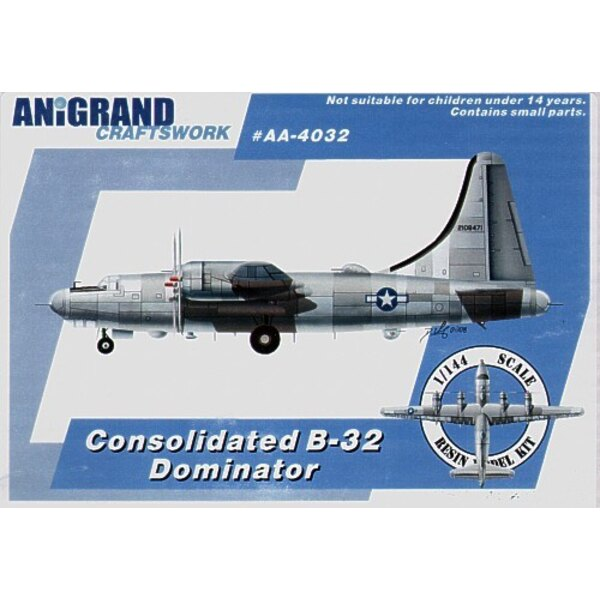 Consolidated B-32 Dominator. Also includes BONUS kits of the McDonnell XP-67 Bat Hughes XA-37 and North American XB-28 Dragon. I