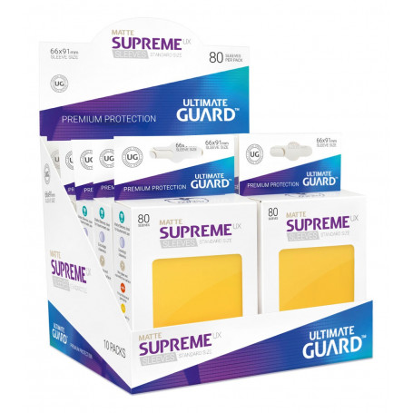 Ultimate Guard SUPREME UX STANDARD Size Card Sleeves 80 YELLOW MATTE