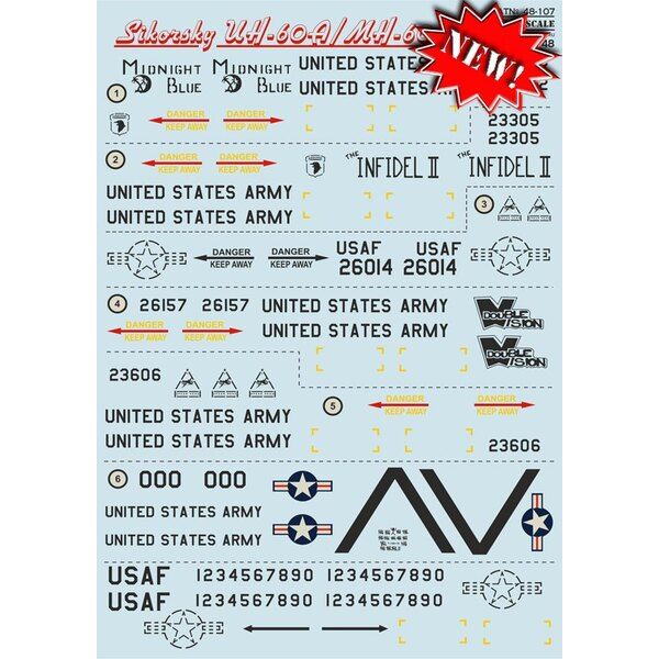 Decals Sikorsky UH-60A/MH-60G