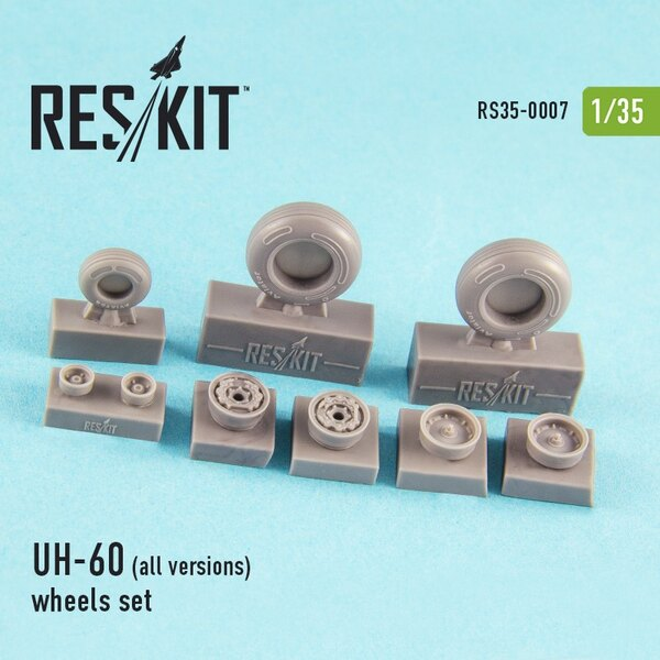 Sikorsky UH-60 (all versions) wheels set (1/35) (designed to used with Academy and Italeri kits)[AH-60L UH-60L MH-60S UH-60S UH-