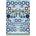 Decals North-American B-25C Mitchell Collection (10)30434/58 83BS, 12BG Pink Petunia USAAF Nth Africa 1942 Sand/Azure Blue;N5-