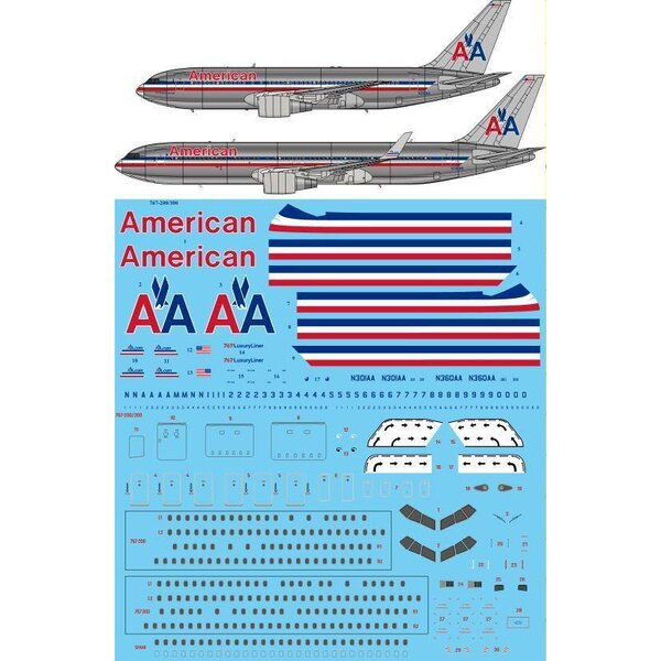 Decals American Airlines delivery Boeing 767-200/767-300