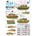 King Tiger / Tiger II 3. s.Pz-Abt 506 (Western Front) and s.Pz-Abt 507 (Ost Front). Star Decals 35-C1095
