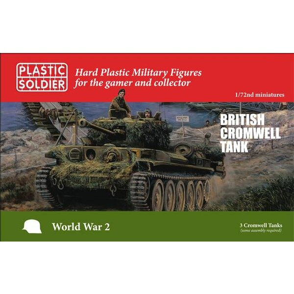British Cromwell Tank 3 British Cromwell tanks. Each sprue has options to build a 95mm howitzer Close Support variant and each v