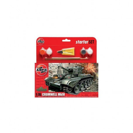 Cromwell Cruiser Starter Set includes Acrylic paints brushes and poly cement