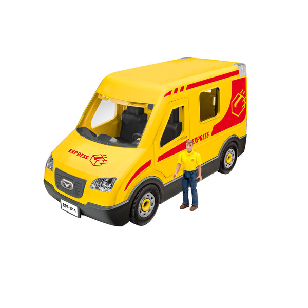 Delivery Truck with Figurine