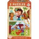 Puzzle Wooden animals puzzle Educa EDUCA-17618