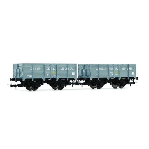 "RN, ""Unified"", 2-unit set open wagons ""Sociedad General Azucarera"", empty"