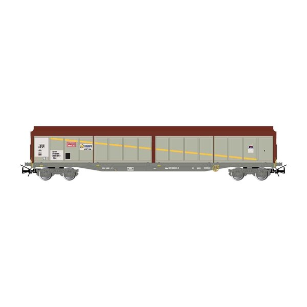 4-axle sliding walls wagon, JJPD, brown / silver, ep.IV-V