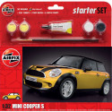 BMW Mini Cooper S Starter Set includes Acrylic paints, brushes and poly cement Airfix AX55310