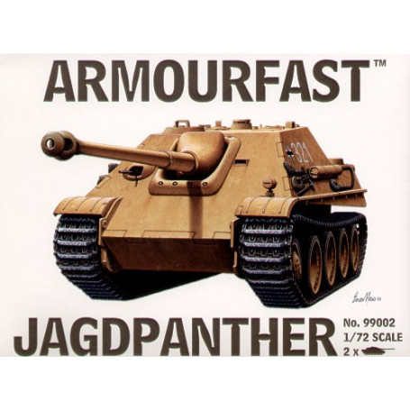 Jagdpanther Tank Destroyer: the pack includes 2 snap together tank kits