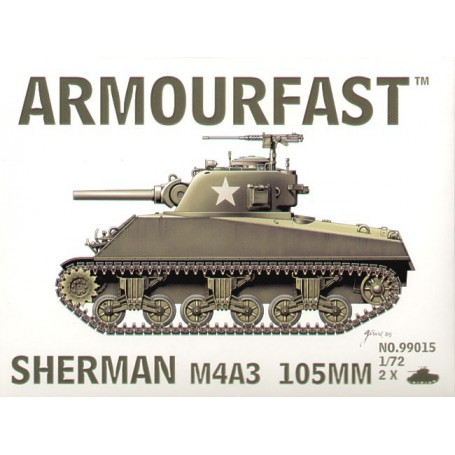 Sherman M4A3 105mm 1:72-99015 Armourfast