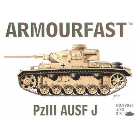 Pz.Kpfw.III Ausf.J: the pack includes 2 snap together tank kits