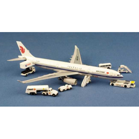 200 Pieces Aircraft Model Playset Airport Assembled Toys for Kids Gift 1990s
