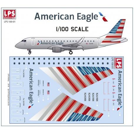 Embraer 175 aircraft sticker