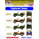 Willys Jeep MB/Ford GPW: Captured Jeeps H-Model Decals HMT35025