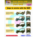 Willys Jeep MB/Ford GPW: RAF Jeeps, Pt.1 H-Model Decals HMT35030