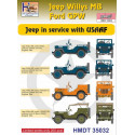 Willys Jeep MB/Ford GPW: USAAF Jeeps H-Model Decals HMT35032