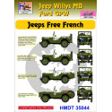 Willys Jeep MB/Ford GPW: Free French Jeeps H-Model Decals HMT35044
