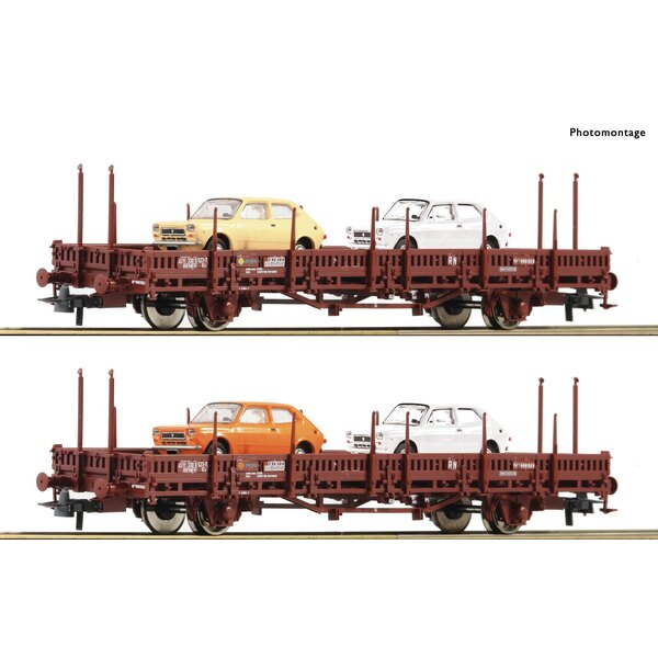 2 piece set: Stake wagons, RENFE