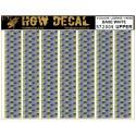 Decals 5 Color Lozenge Upper - base white - sheet: A5 HGW HGW572009