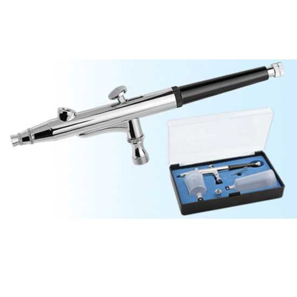 Double action high capacity airbrush