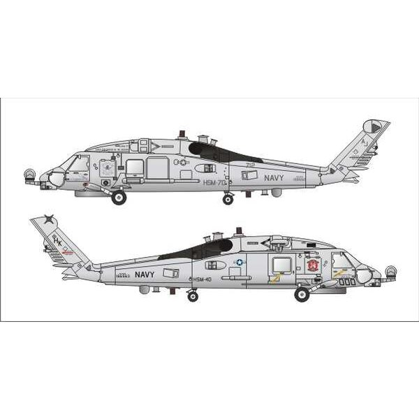 Sikorsky MH-60R Hellfire version with decals and etched parts (designed to be used with Hobby Boss SH-60B kits)