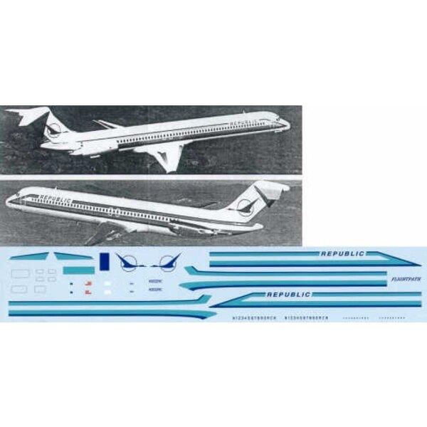 MD 80/Douglas DC-9-10/Douglas DC-9-30 REPUBLIC Turquois scheme