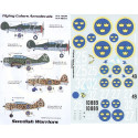 decals swedish air force fiat cr.42 f9-27 1942 re.2000 f10-25 1942 both italian style camouflage p-3