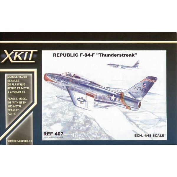 Republic F-84F Thunderstreak. This is the Heller kit with new improved fuselage etc