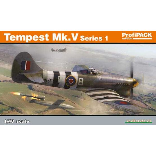 Hawker Tempest Mk.V series 2 ProfiPACK edition kit of British WWII fighter aircraft Tempest Mk.V in 1/48 scale. The kit offers t