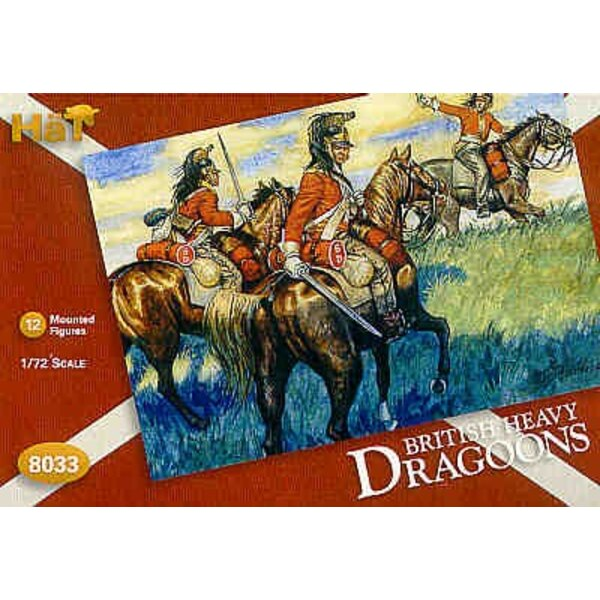 Napoleonic British Dragoons 12 mounted figures with extra hats for conversion possibilities.