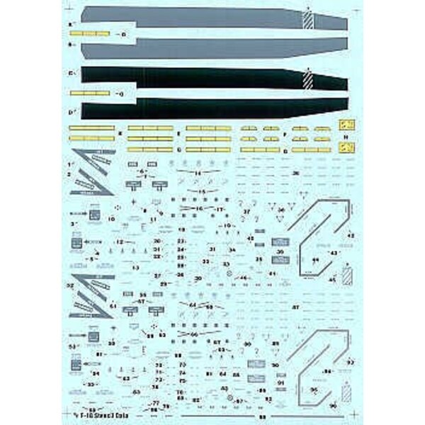 McDonnell Douglas F/A-18 Hornet Stencil Data. Data Walkways Formation Lights for two aircraft