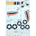 Decals Curtiss P-40K Warhawks Pt 1 (3) 246040 White 13 64thFS 57thFG Lt R.Johnson Jay′ Tunisia 1943 White 171 75th FS/23rd FG Ne