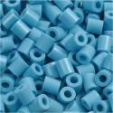 Fuse Beads, size 5x5 mm, hole size 2.5 mm, turquoise (10), medium, 1100pcs