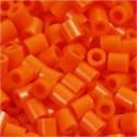 Fuse Beads, size 5x5 mm, hole size 2.5 mm, clear orange (13), medium, 1100pcs