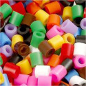 Fuse Beads, size 5x5 mm, hole size 2.5 mm, standard colours, medium, 1100mixed Nabbi CCH-75223
