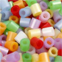 Fuse Beads, size 5x5 mm, hole size 2.5 mm, mother of pearl colours, medium, 1100mixed Nabbi CCH-75263