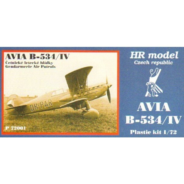 Avia B-534/IV with photo-etched parts Decals Gendarme Air Patrols