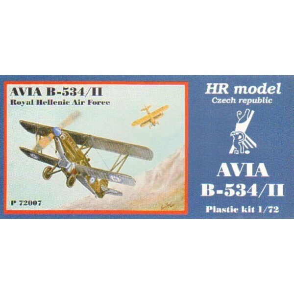 Avia B-534/II including etched parts. Decals Royal Hellenic Air Force/Greece