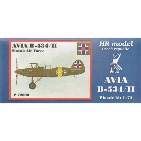 Avia B-534/II including etched parts. Decals Slovakia