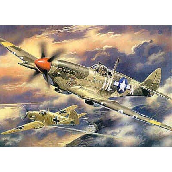 Supermarine Spitfire Mk.VIII. Pointed rudder US Air Force decals