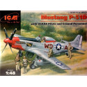 North American P-51D Mustang with USAF Pilots and Ground Personnel ICM ICM48153