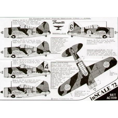 SBS Models Decals 1//72 BREWSTER MODEL 239 BUFFALO FINNISH AIR FORCE