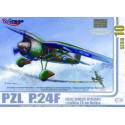 PZL P.24 F of the Greek Air Force with resin and photoetched parts MIRAGE HOBBY 4048107