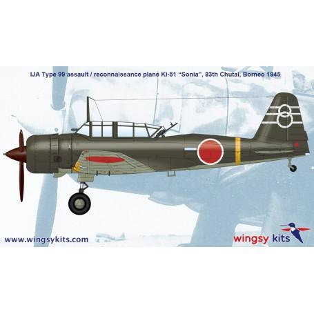 "Ki-51 ""Sonia"" IJN Type 99 army assault//recon 1//48 Wingsy Kits plastic kit"