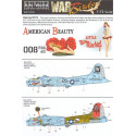 decals boeing b-17g flying fortress (2) 298008 2s-g/w american beauty 834th bs 486th bg 297880 df-f/