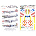 decals north american p-51d mustangs part 1. (4) 415459 hl-b 308 fs/31 fg capt john voll `american b